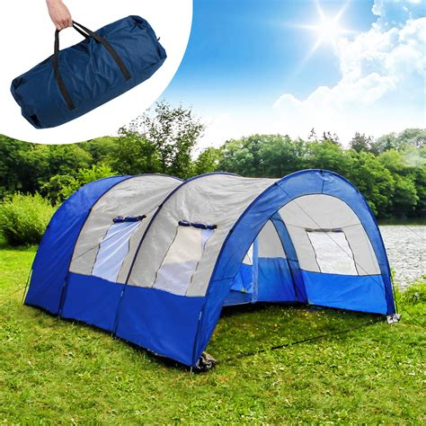 toile de tente 2 chambres camping tunnel family tent outdoor tents 4 6