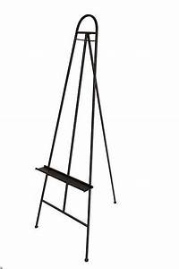 LARGE ANTIQUE BLACK METAL EASEL 144X65X46CM Home decor