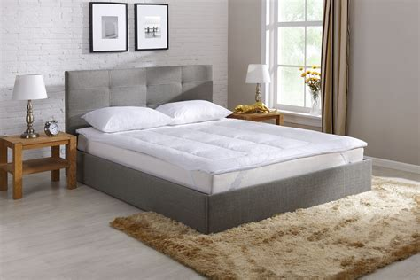 6002 feather bed topper ovela goose and feather mattress topper king ebay