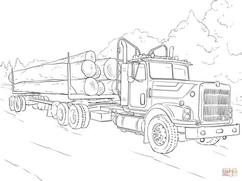 Truck With Trailer Coloring Pages 2775304