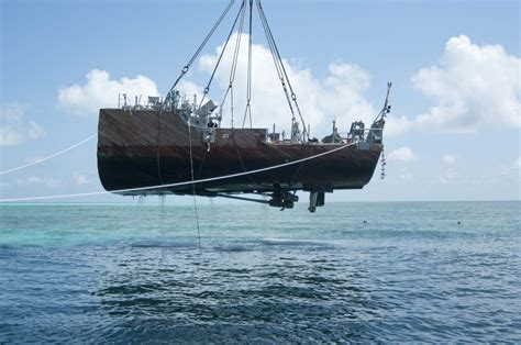 Ship Ex by Final Hull Section Of Ex Guardian Removed From Reef