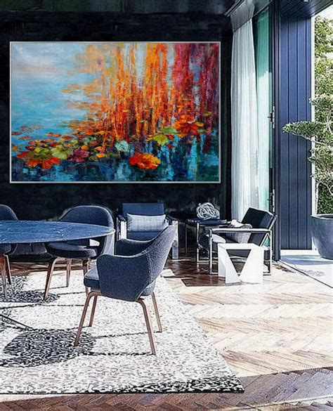 Extra Large Colorful Horizontal Modern Contemporary ...