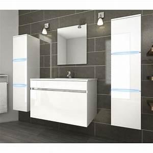 led ensemble de salle de bain simple vasque 80 cm avec With eclairage led meuble salle de bain