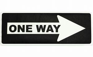 One Way Sign Fabric Wall Art