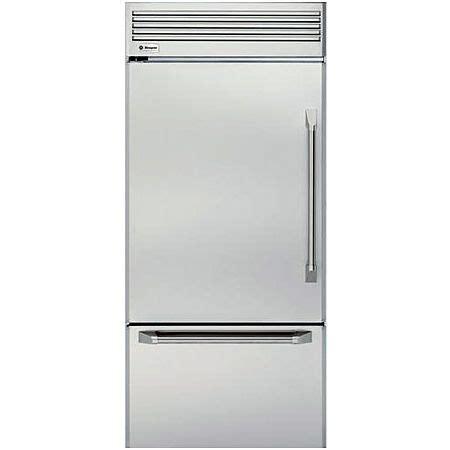 ge monogram  zicpnxlh stainless steel professional built  bottom freezer refrigerator zicp