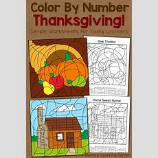 Thanksgiving Color By Number Worksheets  Mamas Learning Corner