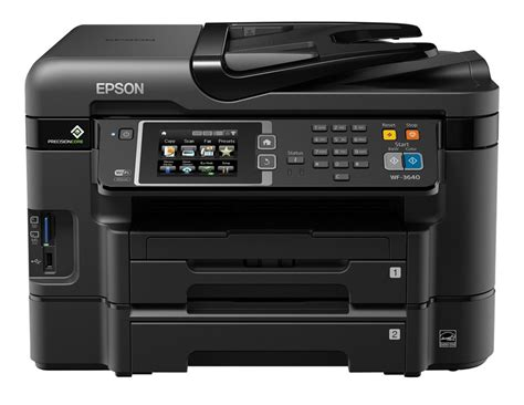 For my tests, i connected it using its ethernet port and installed the drivers and other software on a system running windows vista. (Download) Epson WorkForce WF-3640 Driver (Guide)