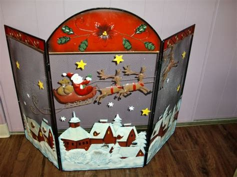 santa claus twas the before 3 panel metal