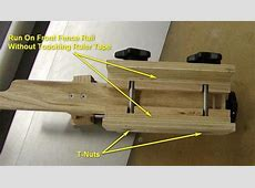 MicroAdjust Table Saw Fence Adjuster