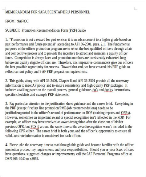 sample air force letter  recommendation  examples