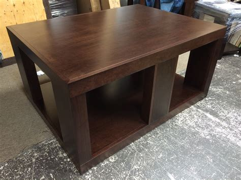 Custom crafted black walnut coffee table with live edges. Custom Maple Wood Coffee & End Tables - Furniture   Mattress Store   Langley BC   Canadian Made ...