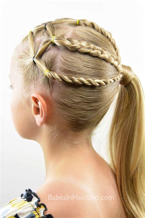 braid twist ponytail combo babes  hairland