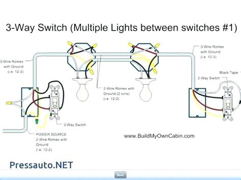 Wiring Diagram For Auto Light Switch by 4 Lights 2 Switches Wiring Hook Up Two One Switch