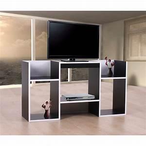Tv Rack Holz : tv rack fernsehtisch standregal aus holz 109x59x30 cm schwarz wei ebay ~ Whattoseeinmadrid.com Haus und Dekorationen