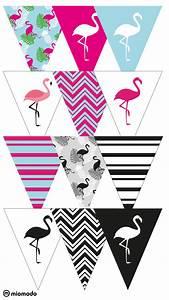 Girlande Basteln Vorlage : diy party girlande zum ausdrucken flamingo free banner and flamingo party ~ Watch28wear.com Haus und Dekorationen