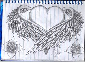 The gallery for --> Easy Drawings Of Broken Hearts With Wings