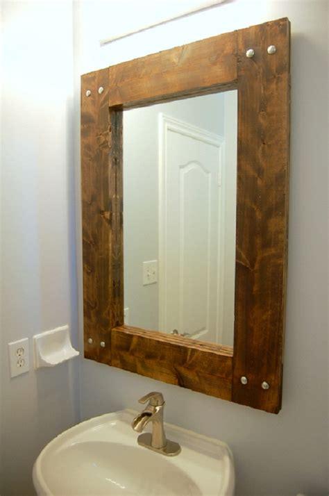 Bathroom Framed by Furniture Rustic Wood Vanity Cabinet With Metal Vessel