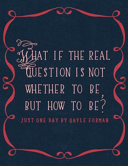 Quote Quotes Gayle Forman Question Staybookish Stay