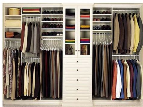Simple Bedroom With Closet Organizers Wooden Home Depot
