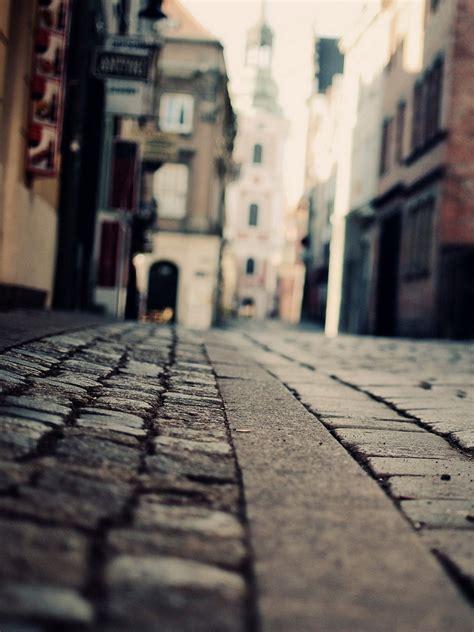 city street macro stones android wallpaper