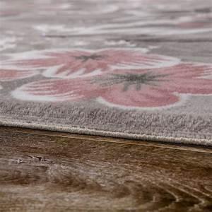 Teppich Rosa Grau : designer teppich blumen grau rosa design teppiche ~ Markanthonyermac.com Haus und Dekorationen
