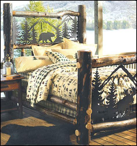 log cabin bed frame  woodworking
