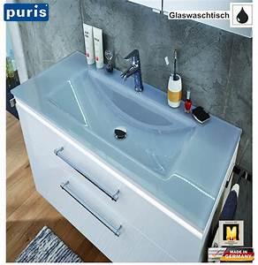 Waschtisch Glas Mit Unterschrank : puris cool line waschtisch set 90 cm glas led optional ~ A.2002-acura-tl-radio.info Haus und Dekorationen