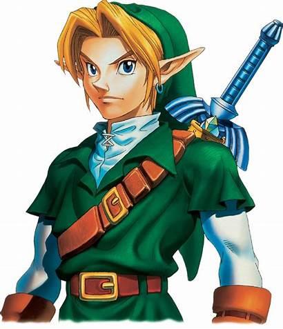 Link Zelda Oot Ocarina Portrait Legend Artwork