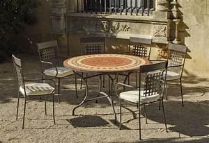 Table De Jardin Ronde : table de jardin ronde et fauteuils lorny vigo ~ Teatrodelosmanantiales.com Idées de Décoration