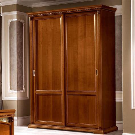 treviso ornate cherry wood  door sliding wardrobe