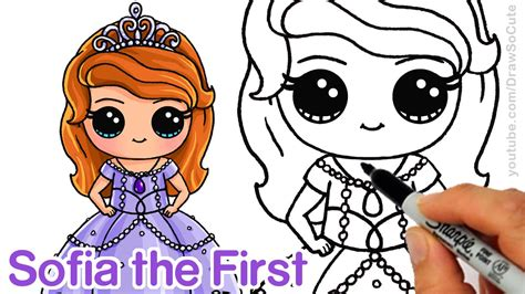 draw sofia   step  step chibi disney