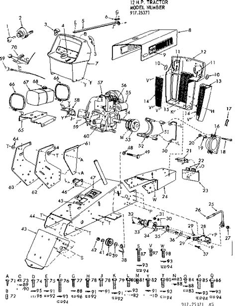 Sears Garden Tractor Parts by Craftsman Sears Suburban 12 Hp Tractor Parts Model