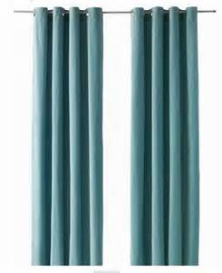 ikea sanela curtains drapes 2 panels light turquoise