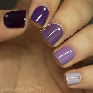 Trendy purple nail art designs you have to see