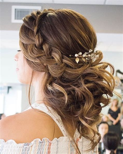 Updo Hairstyles For Balls by Crown Braided With Swept Back Bridal Hairstyles