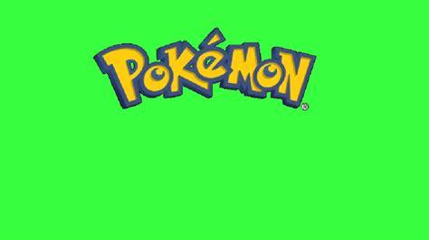 Pokemon Logo Green Screen