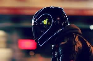 lightmode turns motorcycle helmets into futuristic looking light up headwear
