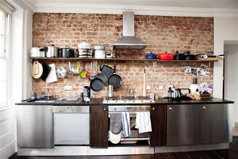 briques cuisine idées de conception des murs de cuisine en briques décor