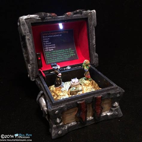 world of warcraft horde gunship armory chest engagement ring box by artist paul pape video