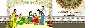 Saree Ceremony Invitation - All Invitations - Telugu