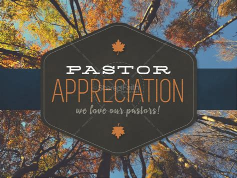 pastor appreciation ministry church powerpoint fall