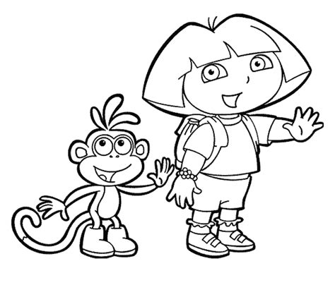 coloring pages dora  explorer coloring page printable
