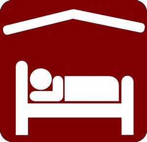Hotel Motel Sleeping Accomodation Clip Art - Red/white 2 ...