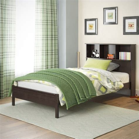 Single Bed Bookcase Headboard by Single Bed With Bookcase Headboard In Cappuccino