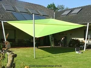 Sonnensegel Mit Stangen : sonnenschutz alternativen zum sonnenschirm pina design ~ Frokenaadalensverden.com Haus und Dekorationen