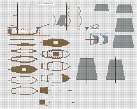 Build Blueprints by Minecraft Small Pirate Warship 1 Wip By Coltcoyote On