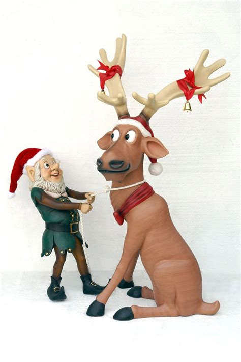 christmas reindeer statues reindeer statues madinbelgrade