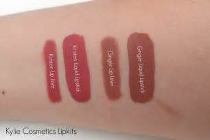 Kylie Ginger Cosmetics Swatches Lip Kit