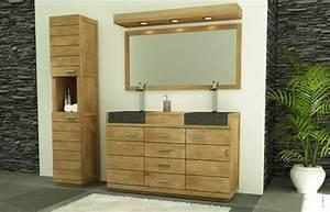 Meuble De Salle De Bain En Teck : vente meuble de salle de bains belle ile l140 cm walk ~ Edinachiropracticcenter.com Idées de Décoration
