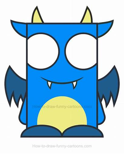 Monster Draw Clipart Funny Cartoons